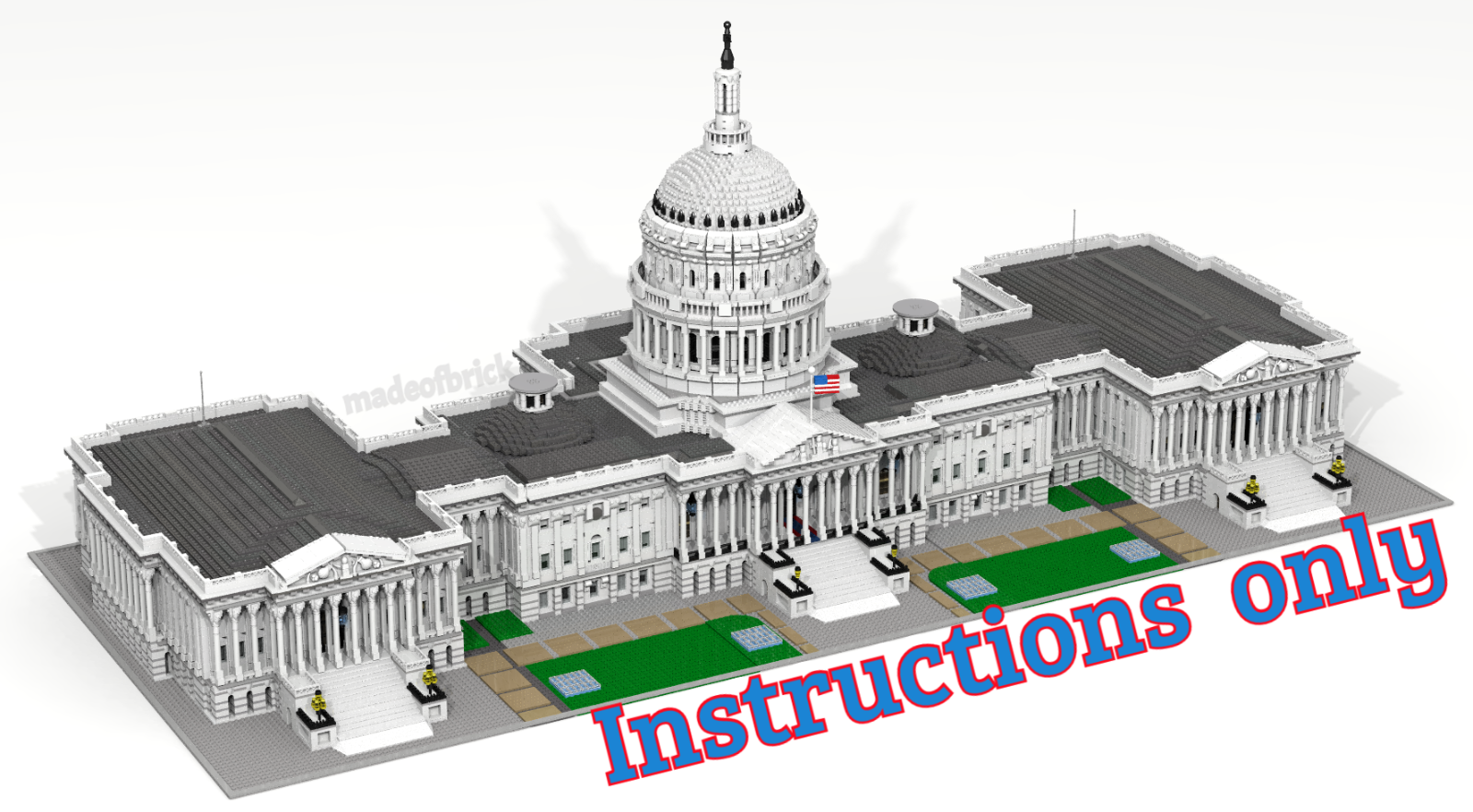 CUSTOM LEGO BUILDING Capitol Washington. USA USA USA Congress. INSTRUCTIONS ONLY cac3a3