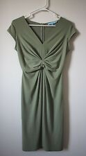 Antonio Melani Sage Green Dress XS $229 Bridesmaid Skirt Anthropologie JCrew