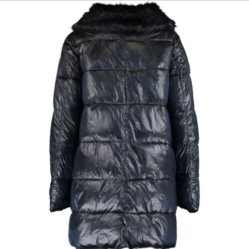 Bomboogie Coat Glossy Rrp Padded Navy Knee Length 16 £199 Size Large Uk RZRg1wq4r