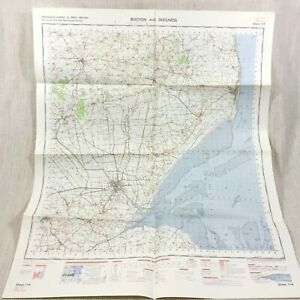 1962 Vintage Militare Mappa Di Boston Skegness Horncastle Coningsby Lincolnshire