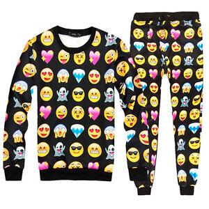 Pop-3D-Emoji-Print-Suits-Sweater-Sweatshirts-Joggers-Pants-Tracksuits-Tops-BDAU