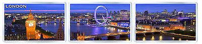 LONDON PANORAMA SET OF 3 FRIDGE MAGNET SOUVENIR 3 IMANES NEVERA