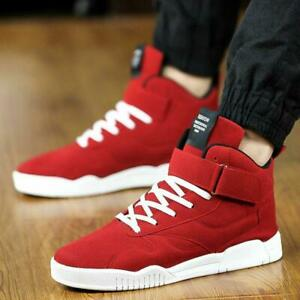 Men-039-s-Lace-Up-High-Top-Sport-Sneakers-Athletic-Running-Casual-Shoes-Ankle-Boots