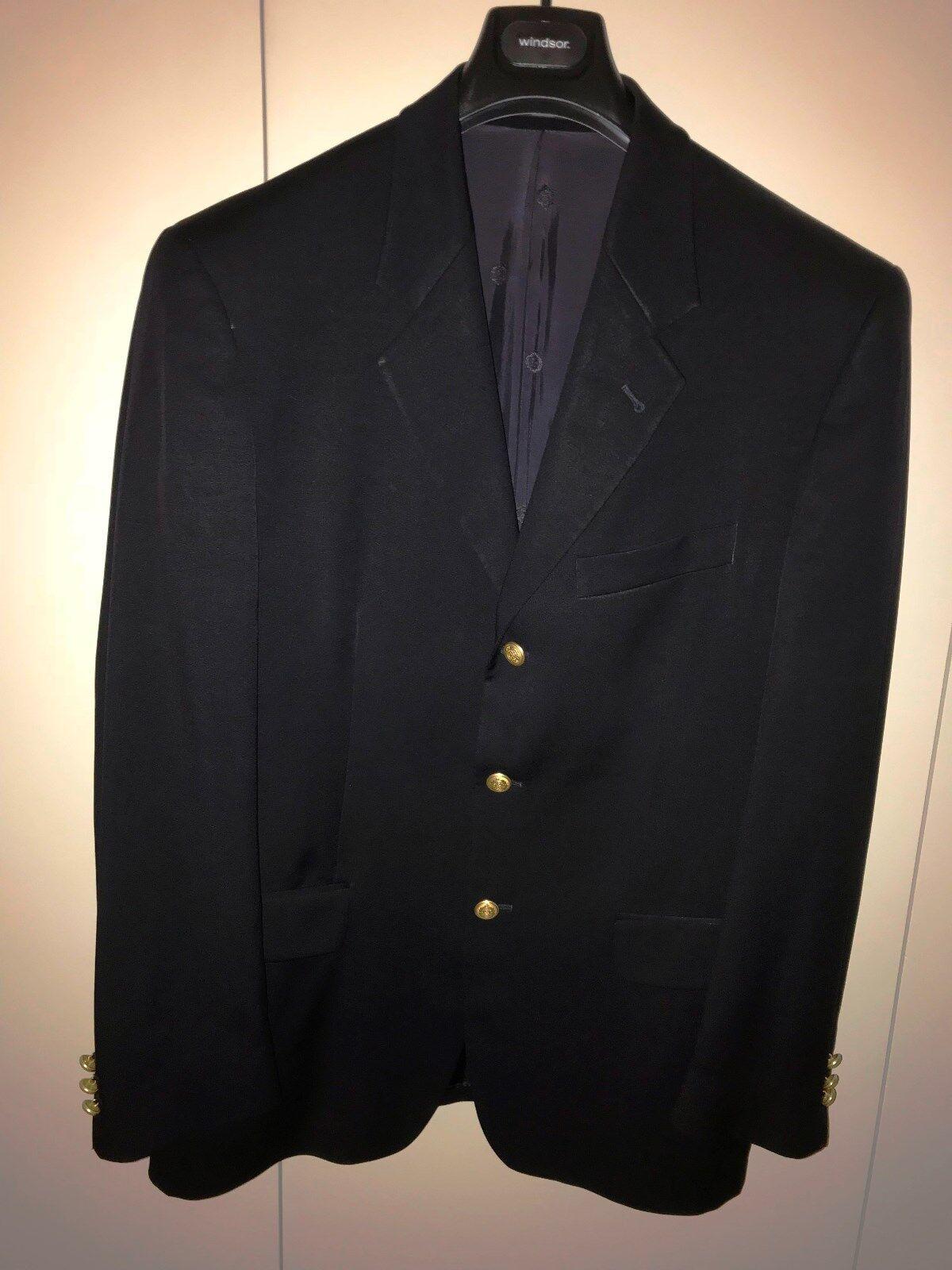 Blazer blue marine boutons dorés marque DE FURSAC size 50 veste