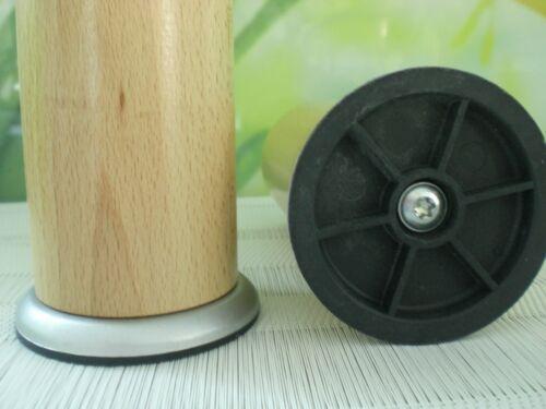 M8 Möbelfüße Holzfüße Rundfüße Couchfüße Buche LACKIERT 10-12-15-20-25-30cm