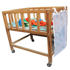 Baby Crib Cot Bedside Hanging Storage Bag Diaper Nappy Clothes Organizer