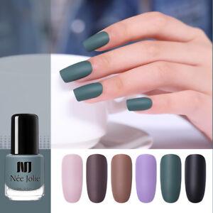 NEE JOLIE 3.5ml Matte Nail Polish Pure Tips Purple Green Black Nail ...