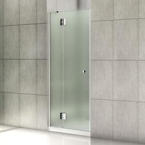 90cm duschabtrennung dusche scharnier duscht r satiniert glaswand nischent r ebay. Black Bedroom Furniture Sets. Home Design Ideas