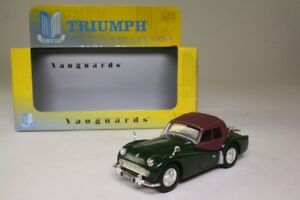 TRIUMPH-TR3A-BRITISH-RACING-GREEN-VANGUARDS-1-43-UK-NEW-VA04703-ROADSTER-rhd