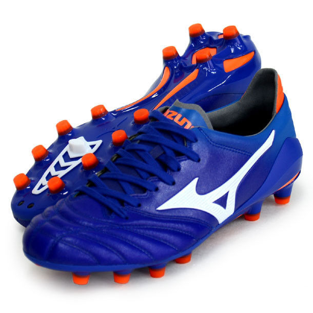 Mizuno MORELIA Neo 2 Football scarpe P1GA1950 Kangaroo Leather Made in Japan blu