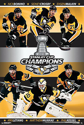 Pittsburgh Penguins 2016 Stanley Cup CHAMPIONS 6-Player Commemorative POSTER