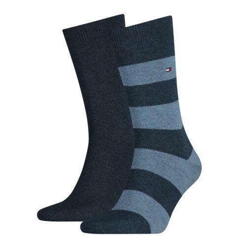 Tommy Hilfiger Herren Socken RUGBY SOCK 2er Pack 39-42 43-46 Streifen