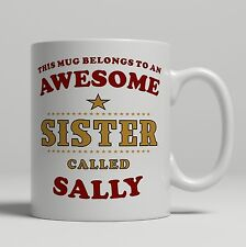 Item 1 Personalised Awesome Sister Mug Birthday Christmas Big Little Gift Idea For Her