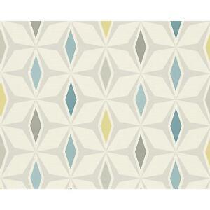 As Creation Geometrique Diamant Papier Peint Retro 60s Motif Texture