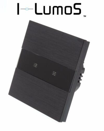 I Lumos Noir Aluminium Panneau Wifi//4 G Touch Remote ON//OFF DEL lumière Commutateurs