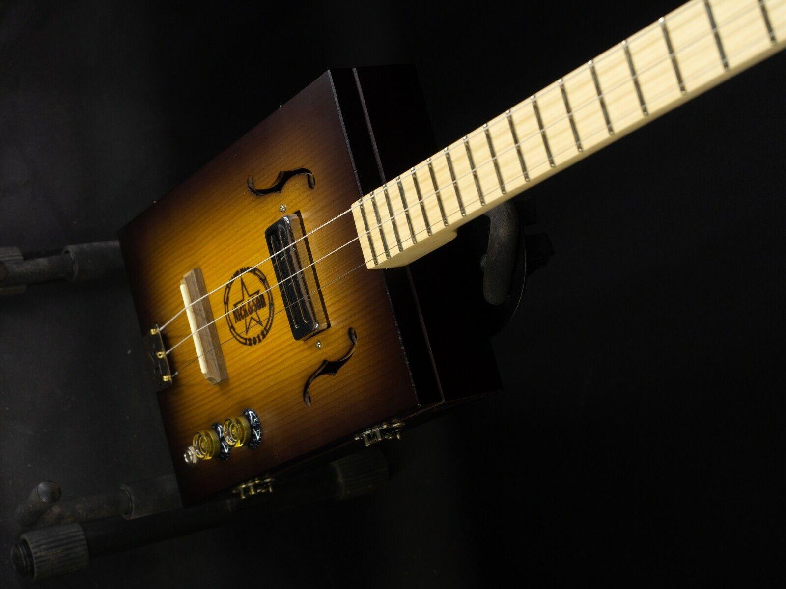 Cigar box guitar 3 string handmade