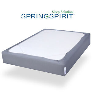 Box-Spring-Cover-with-Smooth-Elastic-Woven-Washable-Gray-Twin-Full-Queen-King