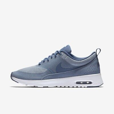 Shop Nike Women's Air Max Thea TXT Blue GreyOcean Fog White