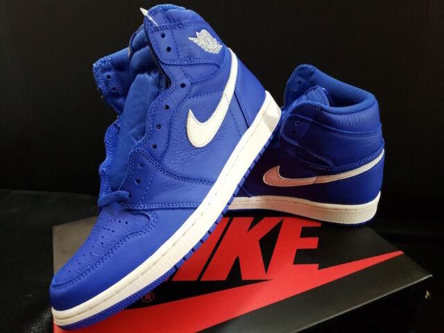 765d294c18c Nike Air Jordan Retro 1 OG HYPER Royal Blue Sail White 555088-401 Size 9