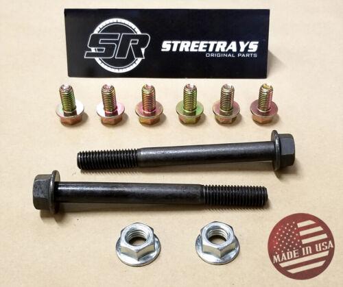 Small Block Chevy 283 327 350 383 Engine Motor Mounts SBC Grade 8 Bolt Kit SR