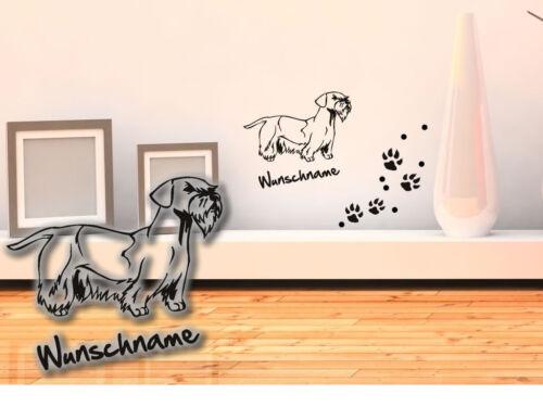 Tapisserie Cesky terrier tchèque terrier h124 chiens pattes wunschname
