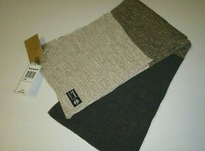 """timberland mens designer 72""""x12"""" gray, beige cable knit acrylic scarf -OS"""
