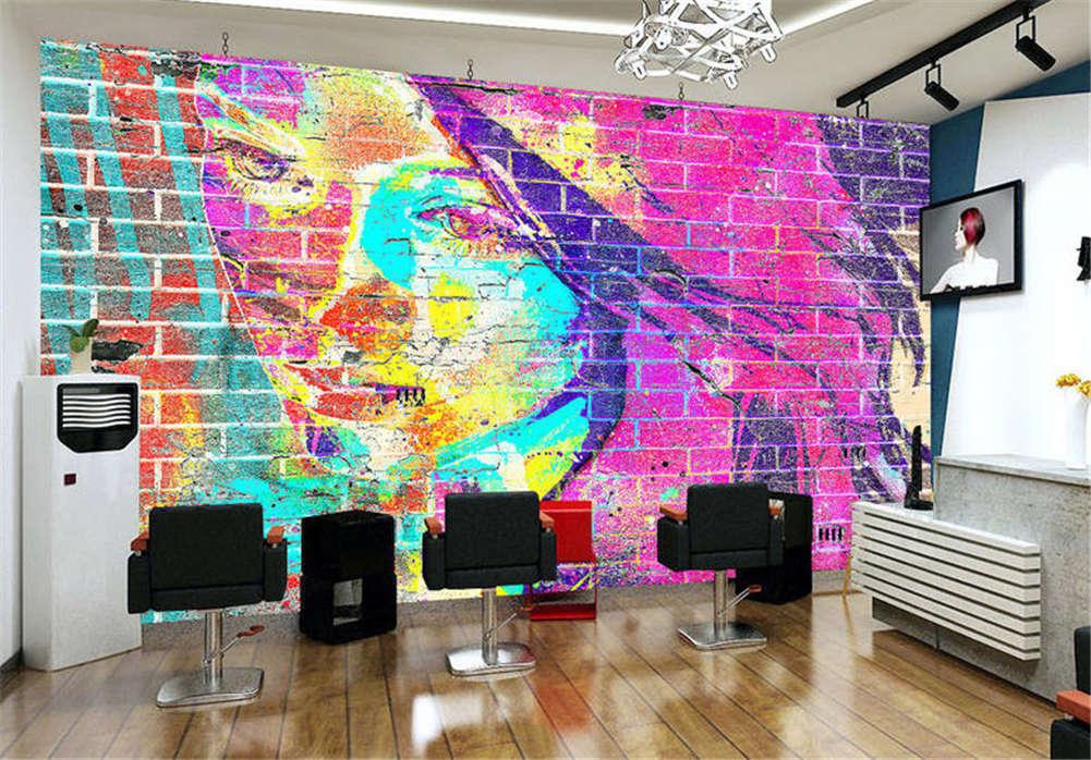 Blazing Dense Face 3D Full Wall Mural Photo Wallpaper Printing Home Kids Decor