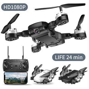 DRONE-QUADRICOTTERO-FPV-CAMERA-REAL-TIME-WiFi-1080P-PORTATILE-RICARICABILE