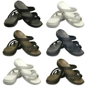 Crocs-Womens-Meleen-Summer-Sandals-Ladies-Beach-Slip-ons-Shoes-Slippers-UK-Sale