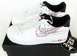 Détails sur Nike Air Force 1 AF1'07 LV8 Script Pack Swoosh blanc UK 5 8 9 10 11 12 us NEW afficher le titre d'origine
