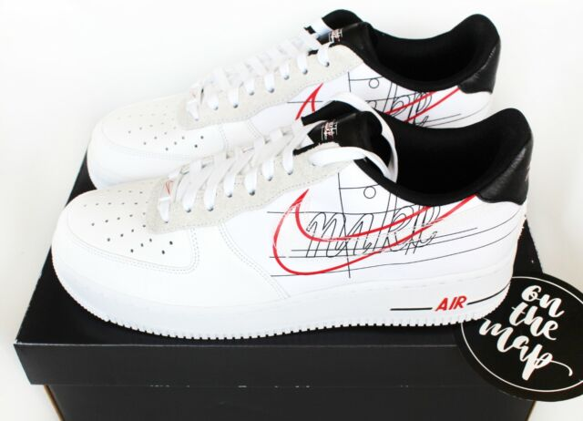 Nike Air Force 1 AF1 '07 LV8 Script Swoosh Pack White UK 5 8 9 10 11 12 US New