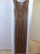 BNWoT Pure Collection toffee jersey maxi  dress  size 8