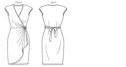 Butterick-6054-M Butterick Ladies Easy Sewing Pattern 6054 Wrap Dress