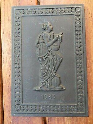 """Buderus Jahresplakette 1983 """"die Muse Terpsichore"""" - Kunstguss"""