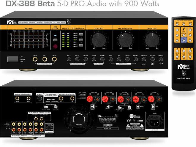 Better Music Builder DX-388 BETA 900W Pro Karaoke Mixing Amplifier mixer ampli