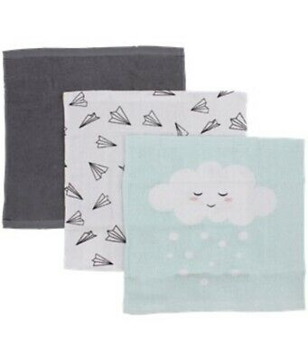 Grau Kind-Hearted 3x Handtuch Mundtuch 30x30 Cm 100% Bw Mint Weiß Frottee Baby Tuch Neu Strengthening Waist And Sinews