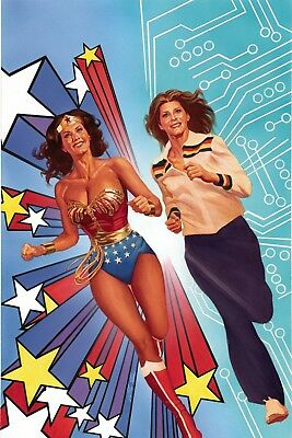 WONDER WOMAN 77 MEETS THE BIONIC WOMAN #1 COVER E VIRGIN ART CAT STAGGS