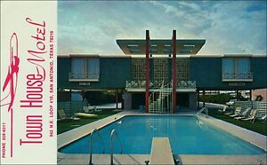 Details about Swimming Pool, Diving Board, Town House Airport Motel, San  Antonio, TX. 1960s.