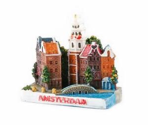 Amsterdam-Holland-Poly-Magnet-Stadtansicht-Niederlande-Souvenir