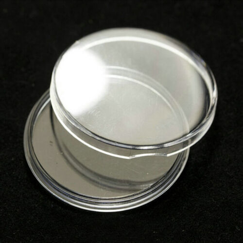 10pcs 40mm Applied Clear Round Cases Coin Storage Capsules Holder Plastic B$