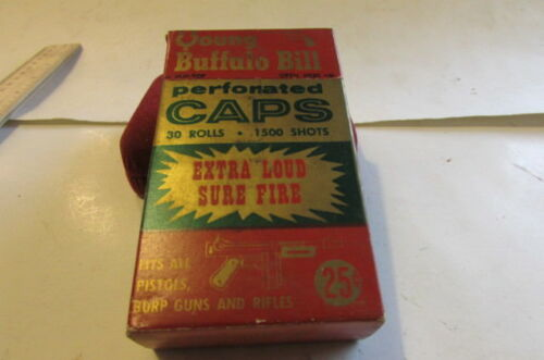 Vintage Young Buffalo Bill Perforater Extra Loud Sure Fire Caps NEW