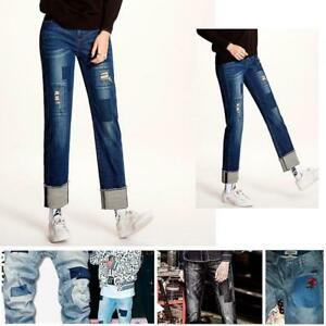 Iron-On-Denim-Patches-Jeans-Elbow-Knee-Repair-Decorative-Applique-No-Sew-DIY-LC