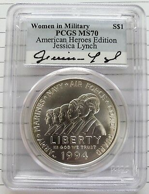 NGC MS70 1994-W US Women In Military Service Commemorative BU Silver Dollar