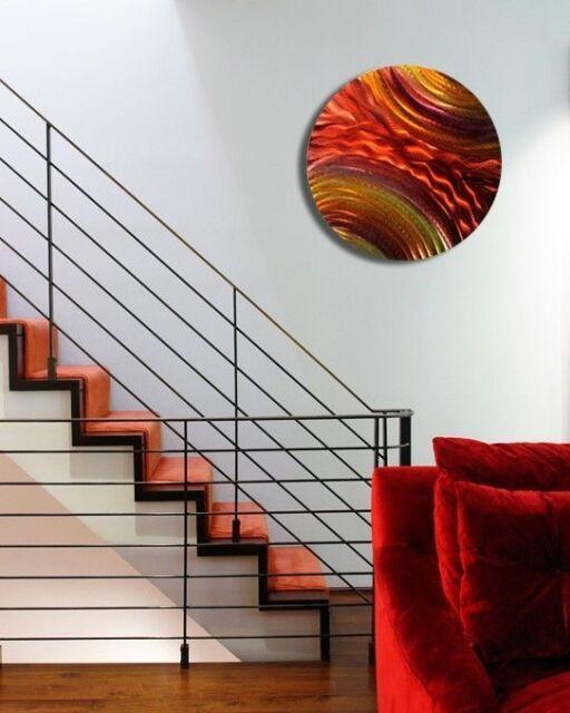 Modern Abstract Metal Wall Art Home Decor - Lava Stream by Jon Allen
