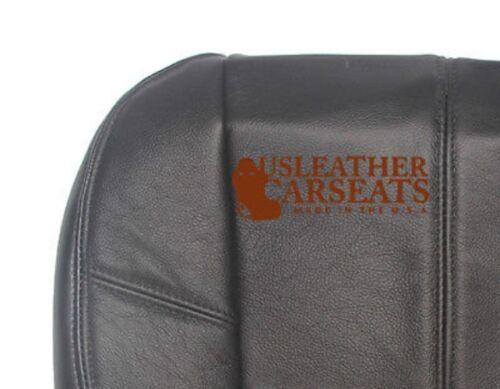 2007-2010 Chevy Silverado 2500HD LT LTZ Driver Bottom Leather Seat Cover Black