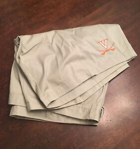NWT Virginia UVA Cavaliers Football Team Issued Nike Dark Khaki Shorts Size 50