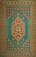 Mad Mats Oriental Turkish Indoor/outdoor Floor Mat, 5 By 8-feet, Aqua , New, Fre