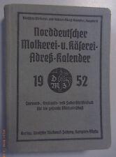 Norddeutscher Molkerei u.Käserei Adesskalender 1952 Adressbuch Fachanschriften