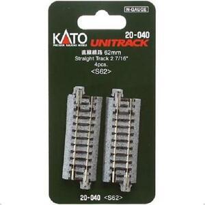 Kato-20-040-Rail-Droit-Straight-Track-62mm-4pcs-N