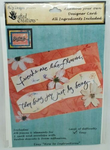 Friends Bring Joy Crafted Creations Designer Decoupage Card Making Kit